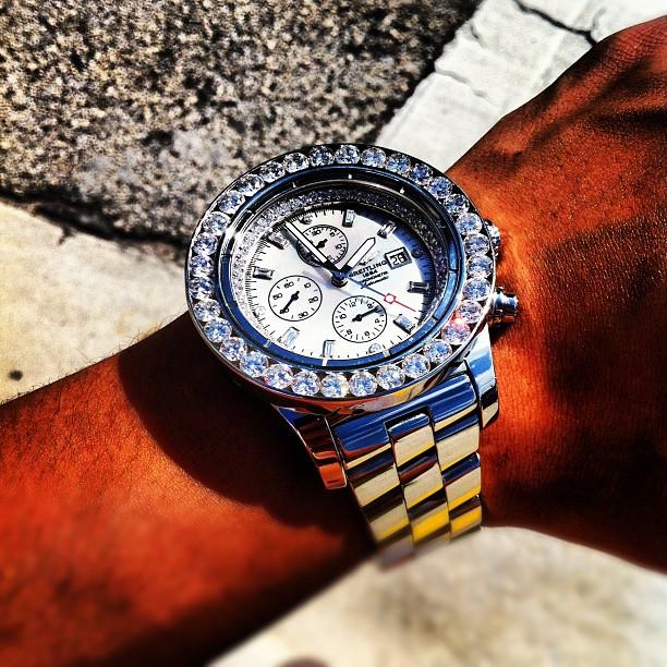 Breitling Navitimer Chronograph with Diamond Bezel | BLANKMODE