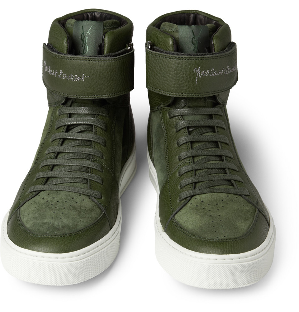 dda220a6204 YSL Leather and Suede Sneakers – BLANKMODE