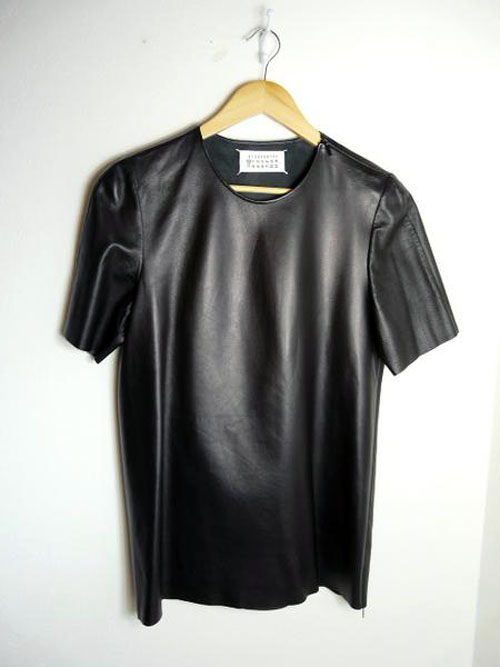 To help maintain the shape of your leather T-shirt, store it on a hanger and do not iron or expose it to any sources of heat. You can find a large selection of women's and men's leather T-shirts on eBay, were you will also find reliable sellers and convenient shipping options.