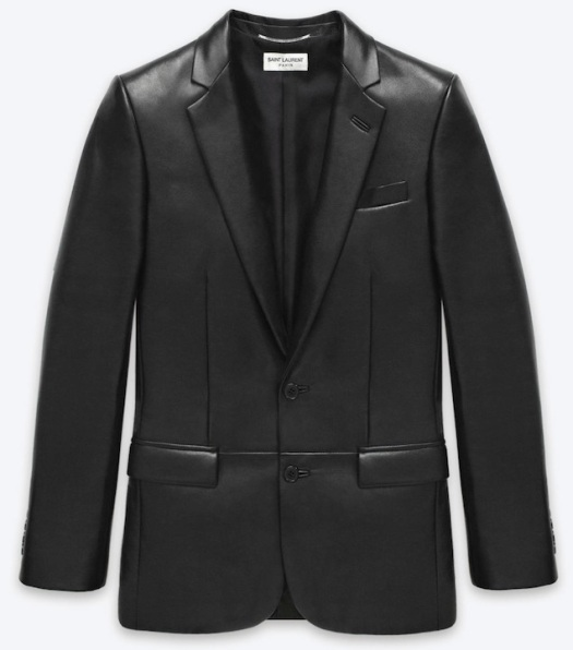 Saint-Laurent-Paris-leather-blazer-UpscaleHype