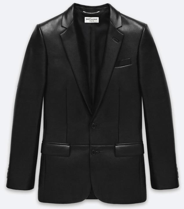 Saint-Laurent-Paris-leather-blazer-UpscaleHype